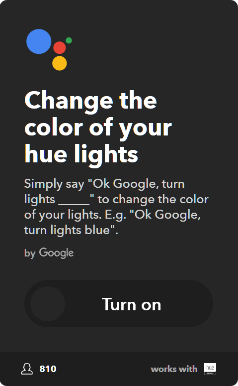 10 Best IFTTT Applets for Google Home & Pixel - Change the color of your Philips Hue lights