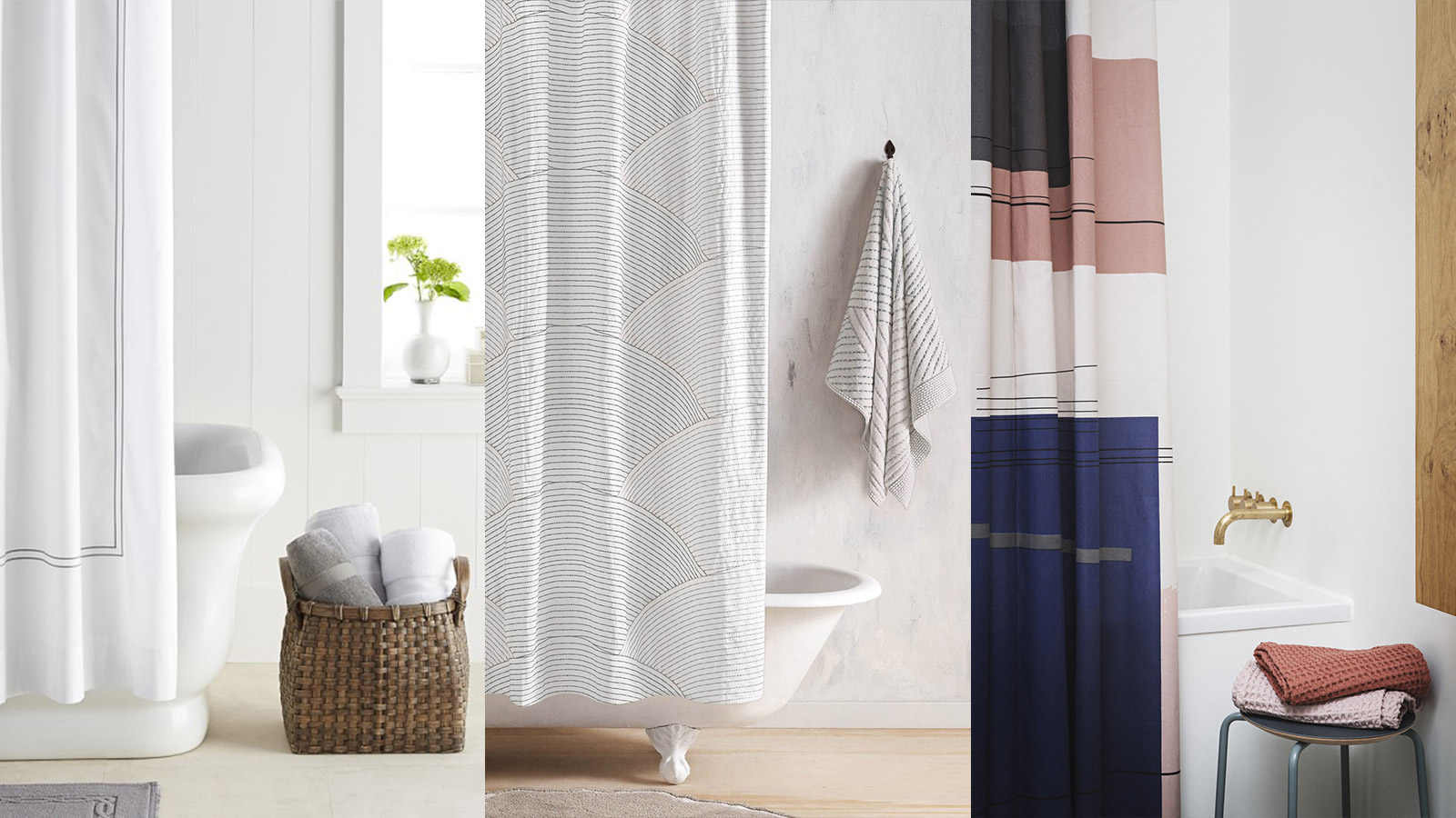 Modern bathroom shower curtains - 10 Stylish Shower Curtains For A Modern Bathroom Shopping Guide
