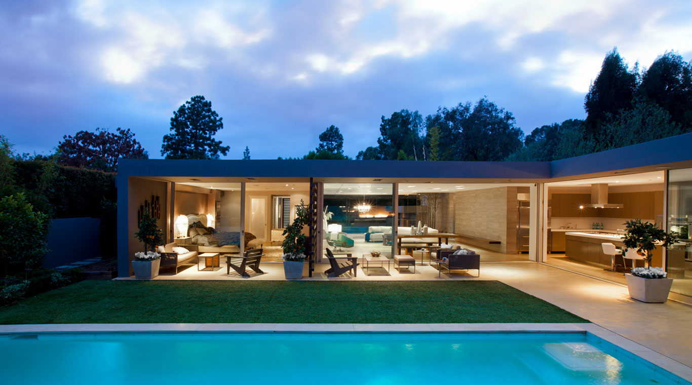 Angelo residence modern los angeles house with stunning for Pool design los angeles