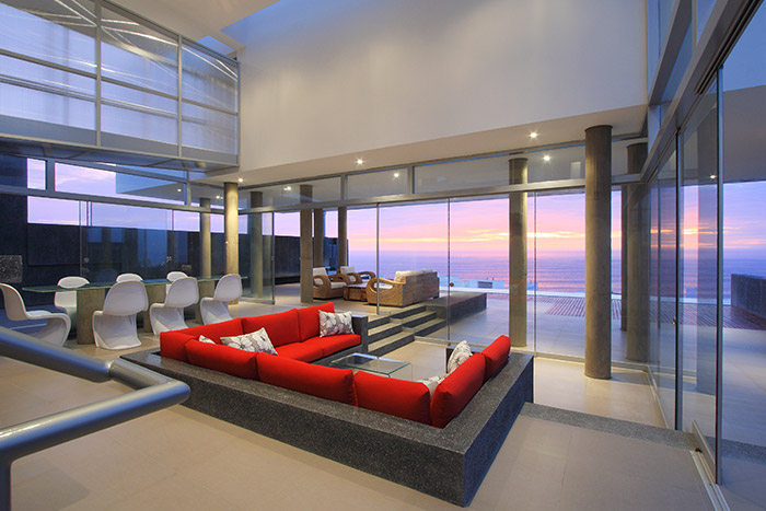 Beach house with beautiful contemporary interior