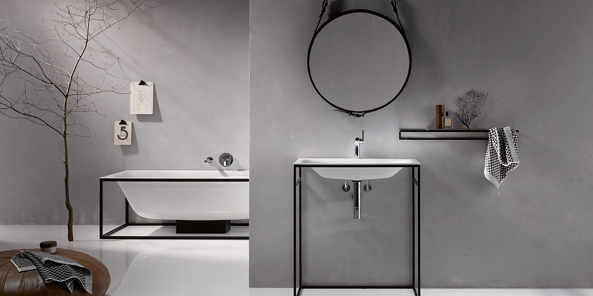 BetteLux Shape Collection By Bette White Bath And Black Frame