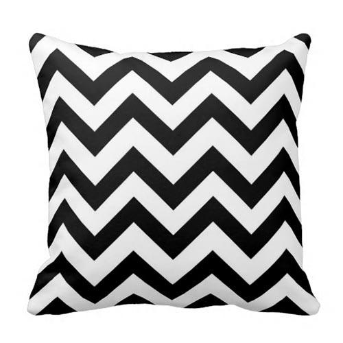 black and white chevron pillow - Black And White Decorative Pillows