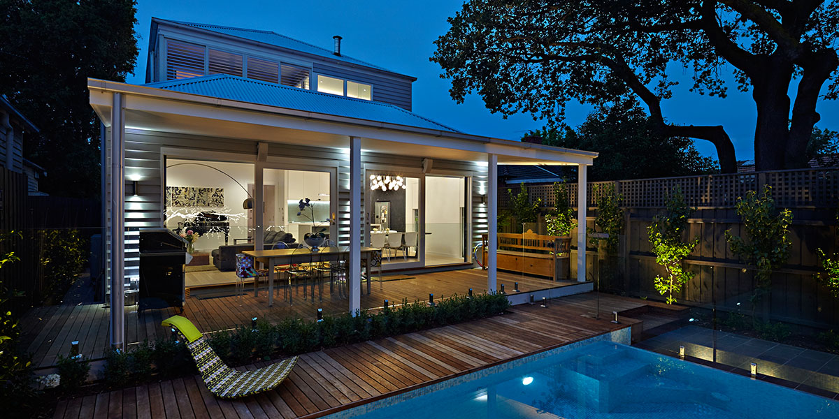 Caulfield North - Double Fronted Victorian Residence With Contemporary Interior Replaces Edwardian Home