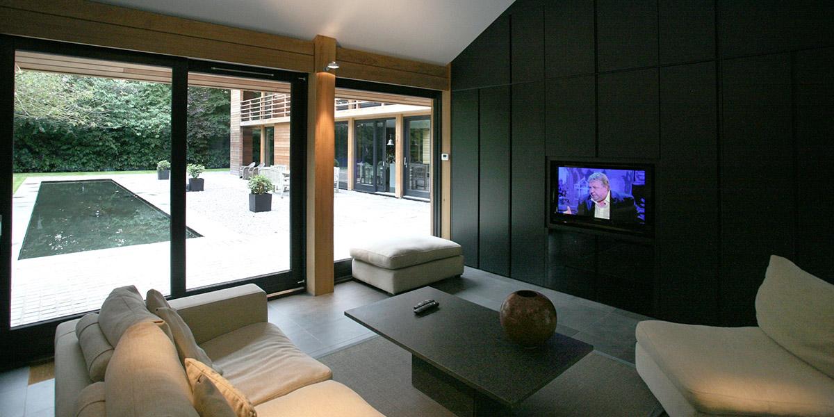 Cedarwood by Nicolas Tye Architects Living Room