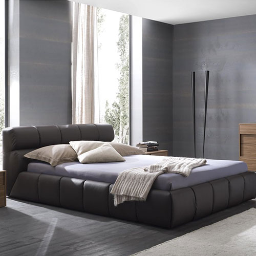 Cloud Platform Bed in Brown