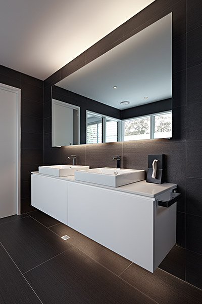 Contemporary Two Sinks Bathroom