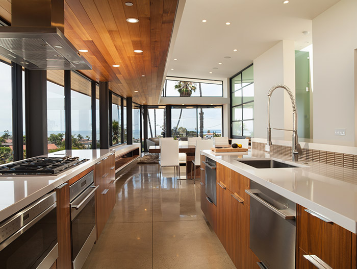 Cornelio Residence Stunning Kitchen And Dining Area With Spectacular Views