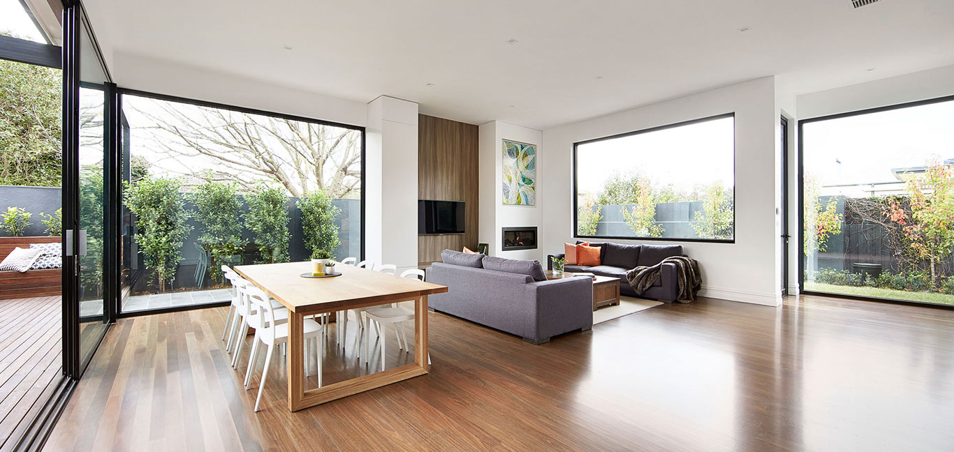 East Malvern Residence Open Living Room