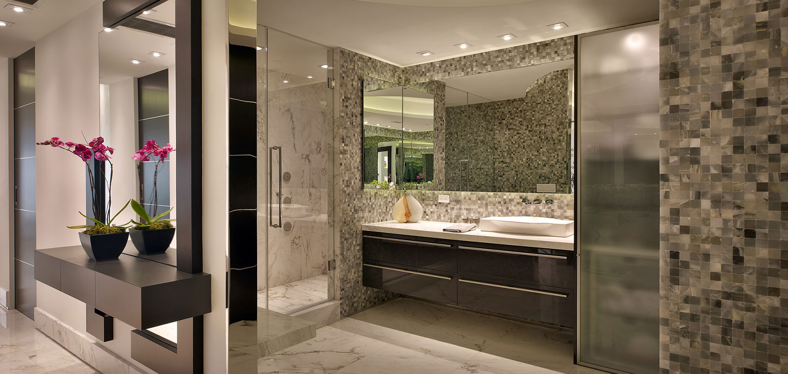 Eclectic Master Bathroom In A Modern Penthouse In Hollywood