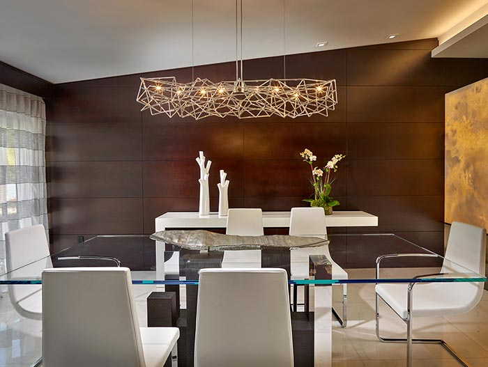 Elegant Dining Room In Luxurious House
