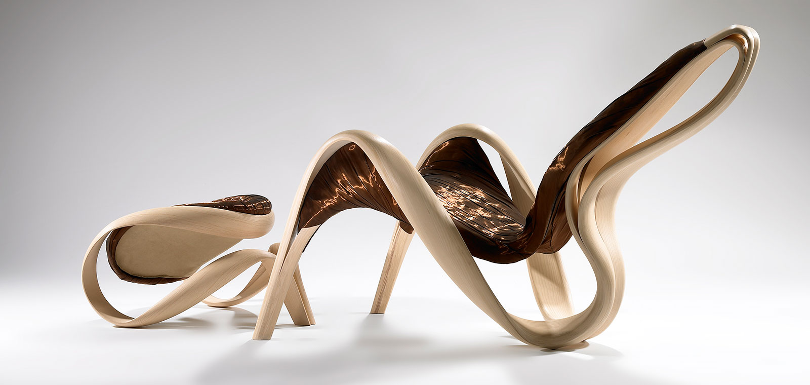 A look at the futuristic furniture design of joseph walsh for Wooden furniture design
