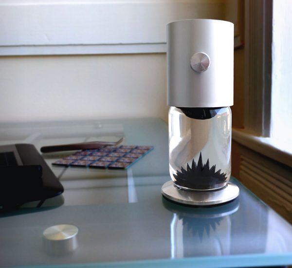 FerroFlow - a mesmerizing ferrofluid sculpture for your home office