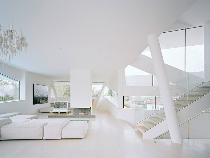 All White Houses Futuristic All-White House Near Vienna With Luxurious White Interior
