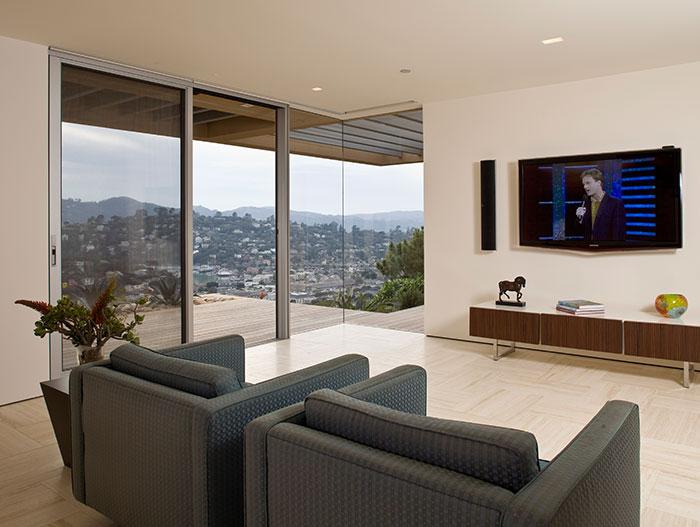 Garay Residence - Modern Media Room With Spectacular Views Of San Francisco Bay