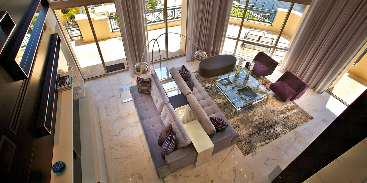 Hollywood Penthouse Luxurious Living Room Design By Pepe Calderin Design