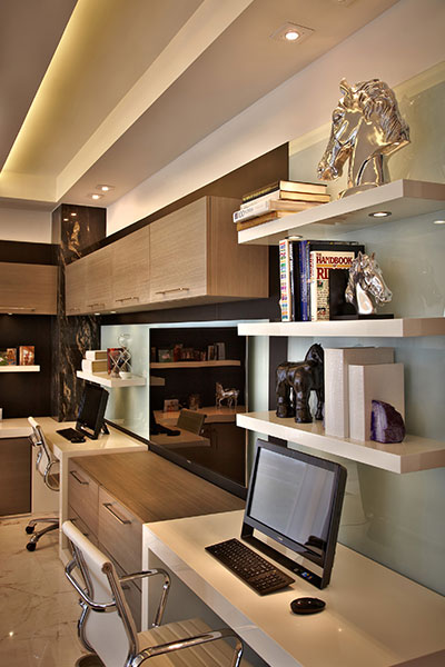 Home Office Area In A Modern Penthouse In Hollywood