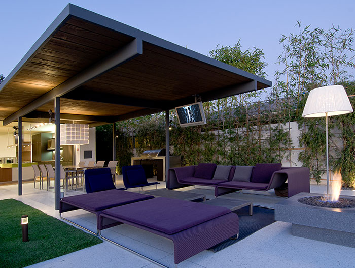 Hopen Place-Contemporary Californian home entertaining area