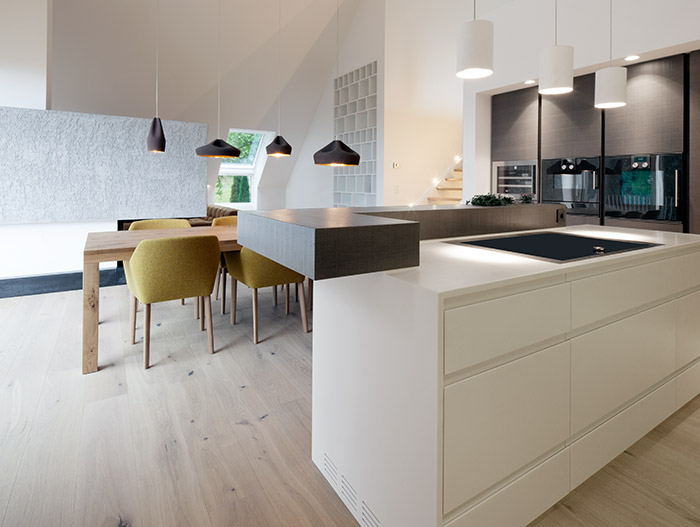 House B.A.B.E. Stunning White And Black Kitchen