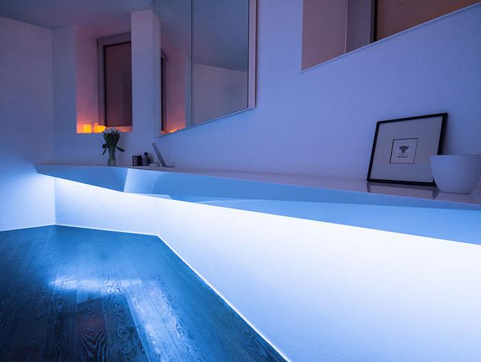Ice bath contemporary bathroom LED lights