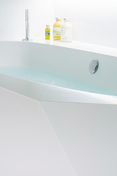 Ice bath modern white bathtub