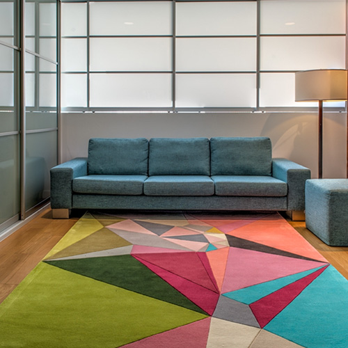 Korgamy Collection Regions - Modern Geometric Rug By Karim Rashid