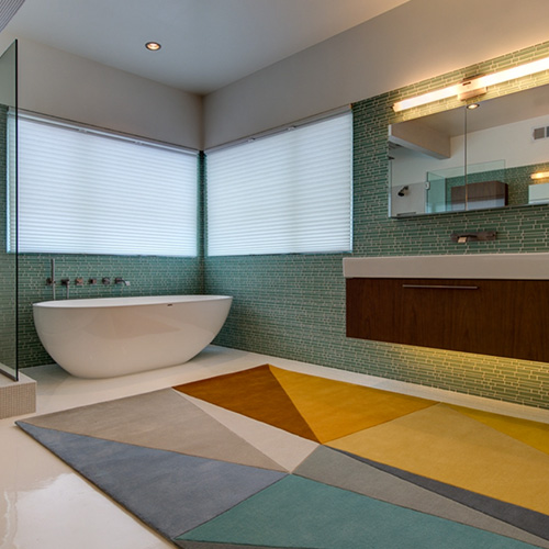 Korgamy Collection - Stunning Geometric Rugs Perfect For Modern Bathrooms