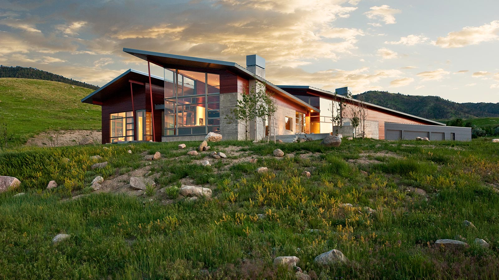 Wyoming residence modern house makes a bold statement in Wyoming home builders