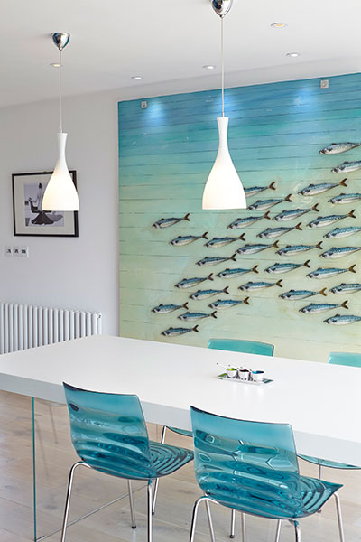 LA Hally Architect Ocean Blue Dining Room
