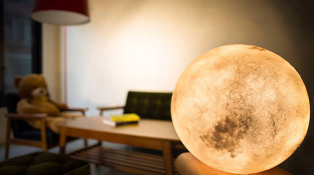 Luna lamp moon lantern living room
