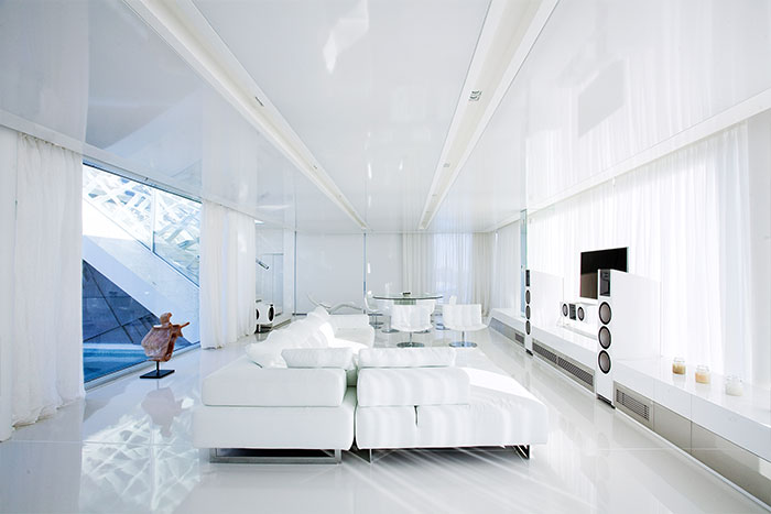 Luxurious House In Athens Modern White Living Room