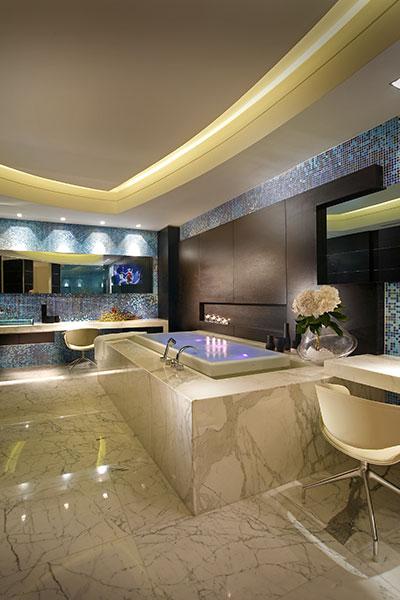 Luxurious Master Bathroom In Unique Apartment By Pepe Caldern Design