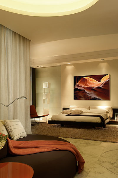 Luxurious Master Bedroom In Modern Apartment By Pepe Caldern Design