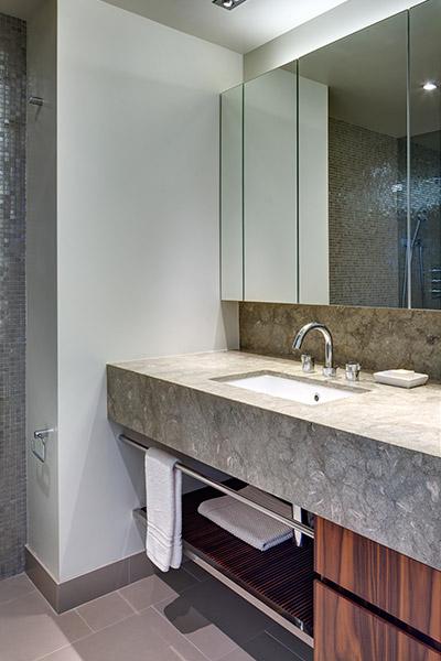 Modern Bathroom In A Stunning Duplex Located In Manhattan