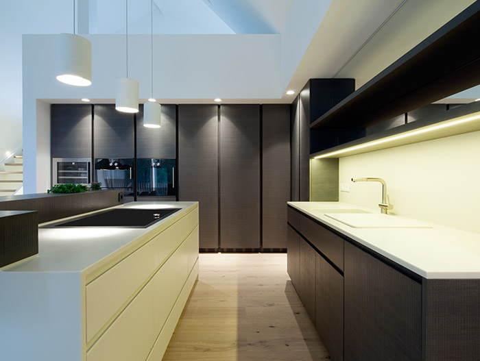 Modern Black Kitchen In Linz Austria