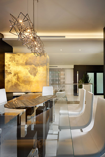 Modern Dining Table In Stunning Florida Home