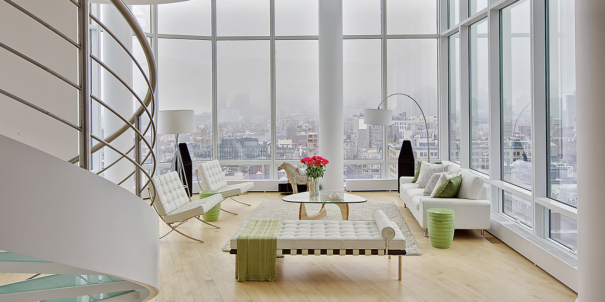 Modern Manhattan Duplex Penthouse With Stunning Views And