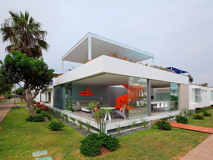 Modern House Exterior In Asia District Peru