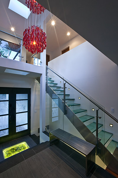 Modern Interior With Glass Staircase