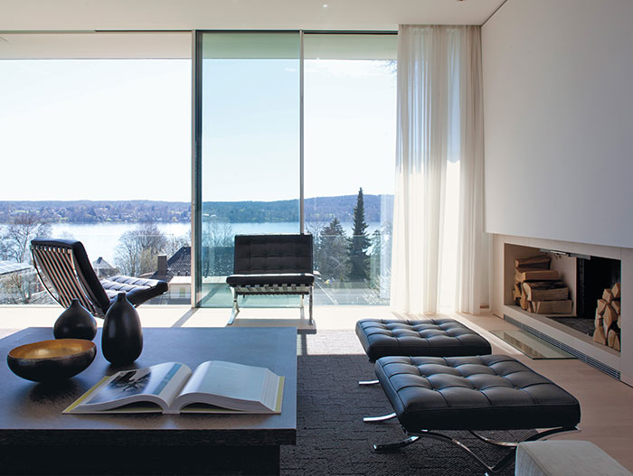 Modern Living Room Design With Spectacular View In Germany
