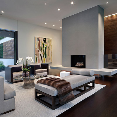 Modern Living Room In New Canaan Connecticut