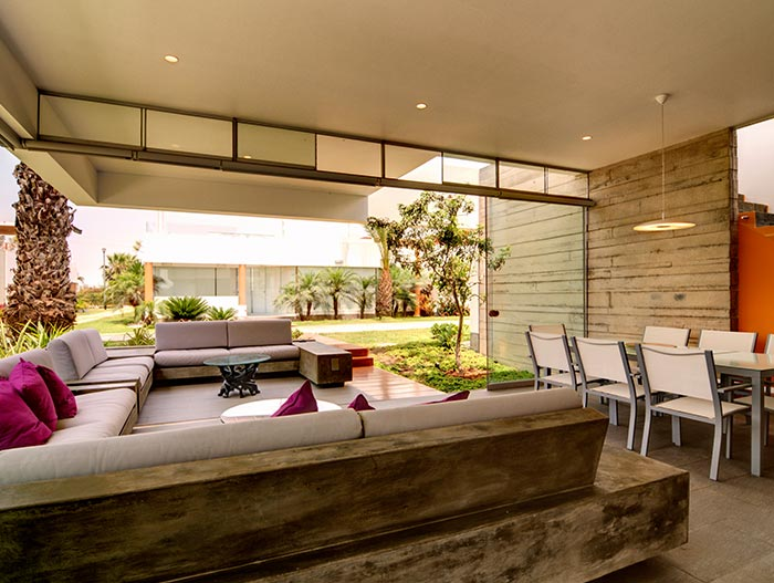 Modern Sofa And Dining Area In Lima, Peru