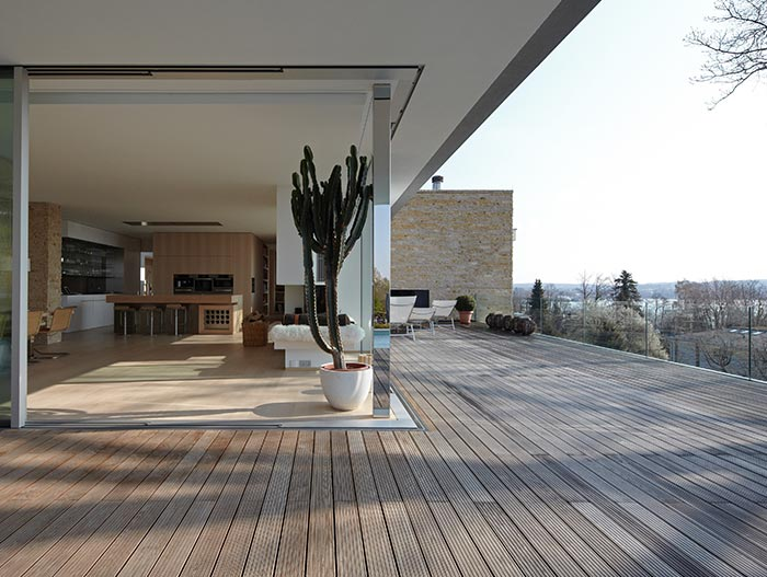 Modern Terrace With Spectacular View In Germany