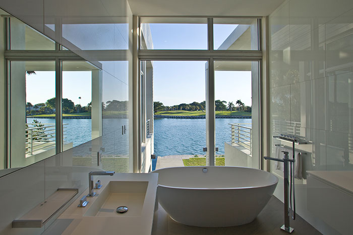 Modern White Bathroom Design In Florida