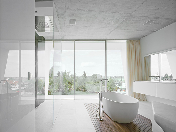 Modern White Bathroom With Amazing View
