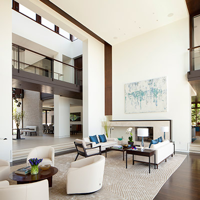 Napoli residence stunning los angeles house by abramson - Traditional contemporary living room ...