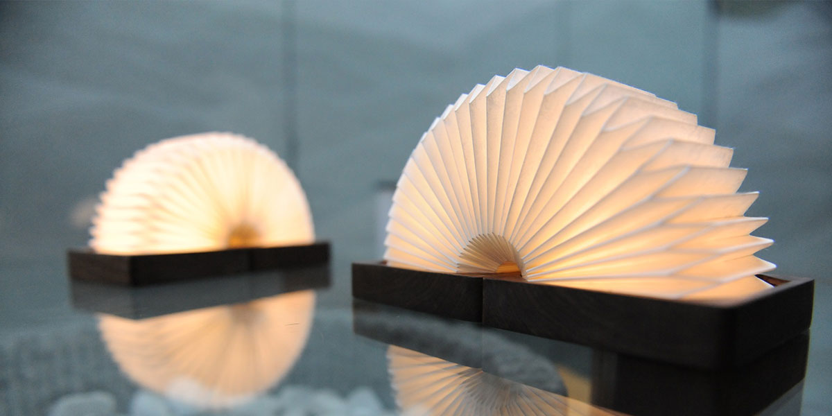 Orilamp Origami-Inspired Smart Lamp that looks like a slinky toy