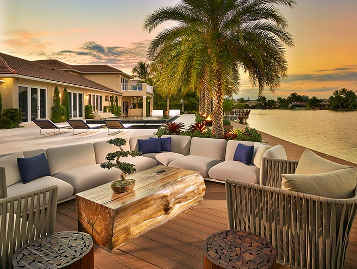 Outdoor Entertainment Area With Spectacular Ocean View
