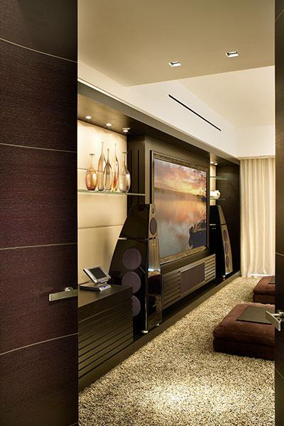 Palazzo Del Mare Modern Media Room By Pepe Calderin Design