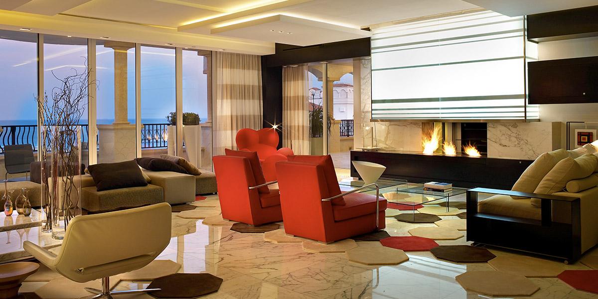 Palazzo Del Mare Modern Red Living Room Design By Pepe Calderin Design