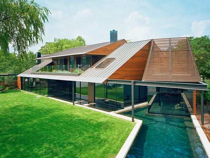 Beautiful modern home near lake austin texas by bercy for Modern austin homes
